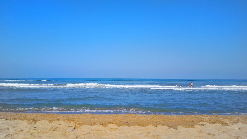 Sea Sand Water Horizon Over Water Beach Blue Sky Wave Beauty In Nature Summer Day Nature Nikon D3200 EyeEm Summer Planet Earth