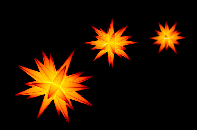 Christmas Christmas Star Christmas Stars Pattern, Texture, Shape And Form Backgrounds Black Background Close-up Illuminated Night No People Orange Color Outdoors Pattern Studio Shot Yellow
