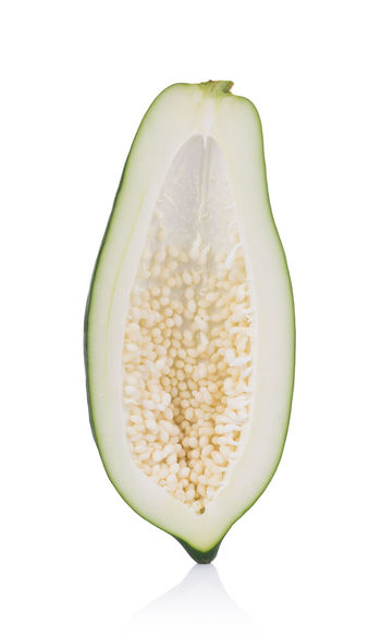 papaya isolated on a white background PawPaw Close-up Food Food And Drink Healthy Eating Papaya Vegetable White Background