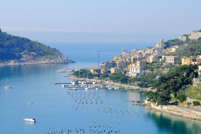 Porto Venere, Italy Aerial View Boating Harbor Harbour Italy Port Sailing Top Perspective Venere Water Waterfront