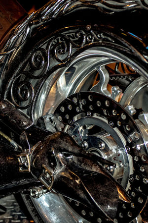 Beautiful Boot Chrome Chrome Wheels Close-up Custom Custom Motorcycle Display EyeEm Masterclass Fabrication Full Frame High Heels Intricate Las Vegas, Nevada Machine Metal Art Metalwork Motorcycle Motorcycle Wheel Sculpted Metal Shiny Showcase October TakeoverContrast The Week On EyeEm Wheel