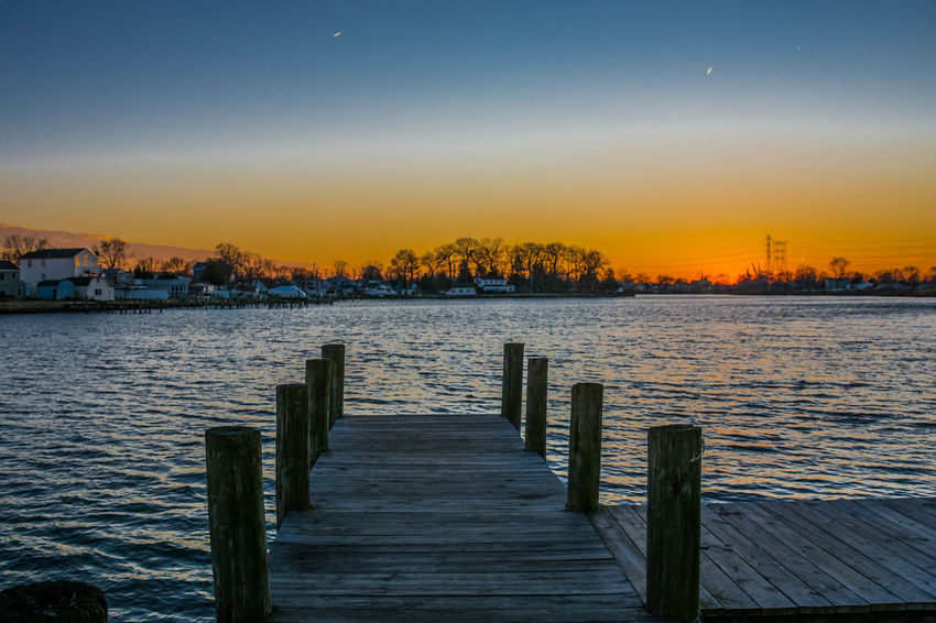 Architecture Baltimore Beauty In Nature Built Structure Clear Sky Cufotos Day Mary Nature Nikon Nikonphotography No People Outdoors Pier Scenics Sky Sunset Tranquility Water Wood - Material
