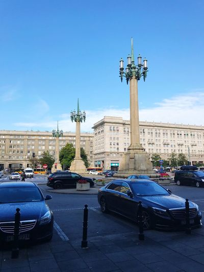 Car Architecture Transportation Land Vehicle Built Structure Mode Of Transport Statue Building Exterior Day City Blue Sky Outdoors Travel Destinations Road No People Tree