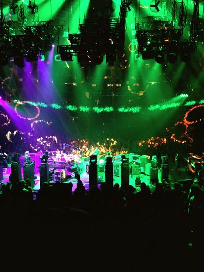 Phish Garden NYC MSG Phish Music Nightlife Arts Culture And Entertainment Illuminated Night Large Group Of People Crowd Performance Popular Music Concert Audience Excitement