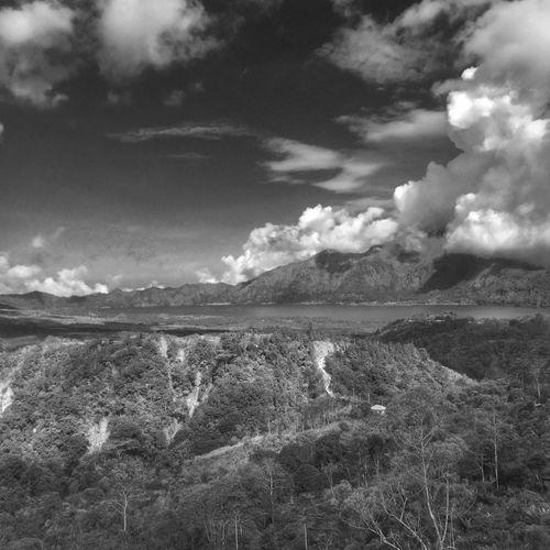 Mount Batur, Kintamani. Bali Blackandwhite Photography Black And White Blackandwhite Bw_collection Bw Batur Mountain View Batur Bali Landscape Beauty In Nature Scenics Tranquility Outdoors Tranquil Scene Cloud - Sky Mountain