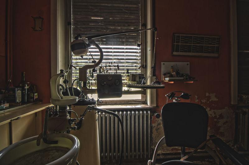 Dental equipment at clinic