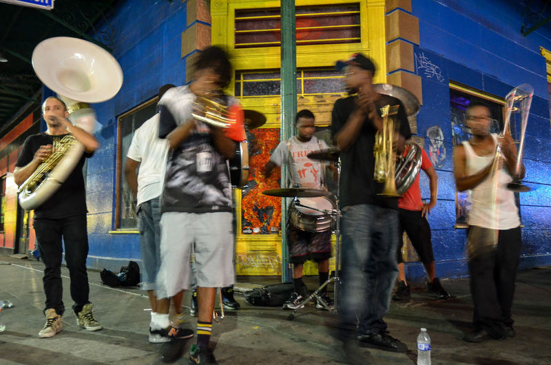 EyeEmNewHere Streetphotography Colorful Caribbean Motion New Orleans Musicians Brass Band