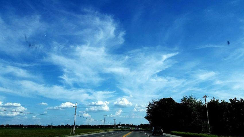 Clouds Tree Blue Sky Cloud - Sky Power Line  Telephone Line Power Supply Electric Pole