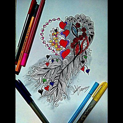 Art Sketch Heart Drawing