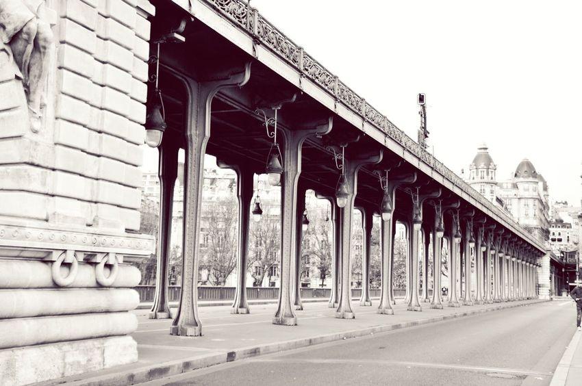 Endless roads Bir Hakeim Inception Blackandwhite Vintage Bridge