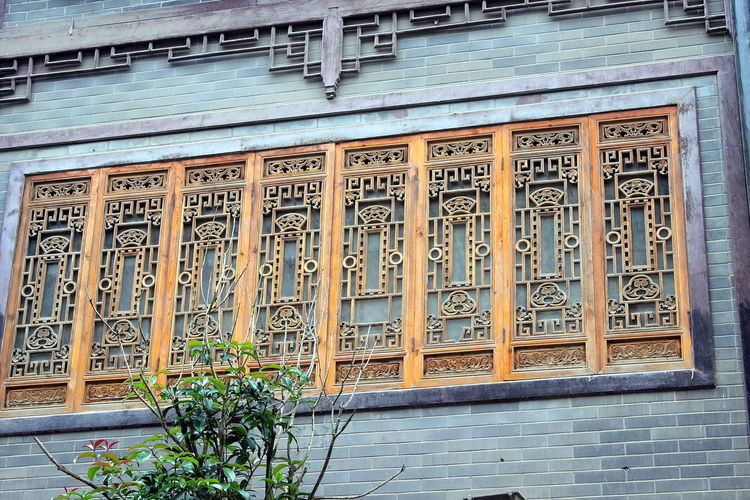 Ancient Architecture_collection Building Exterior Buildings Design Heritage Heritage Site Heritagesite HeritageVillage Monumental Buildings Things I Like Window Designs Windows Colourful Wood Carving China Oriental China,Guizhou Handicraft Handicrafts