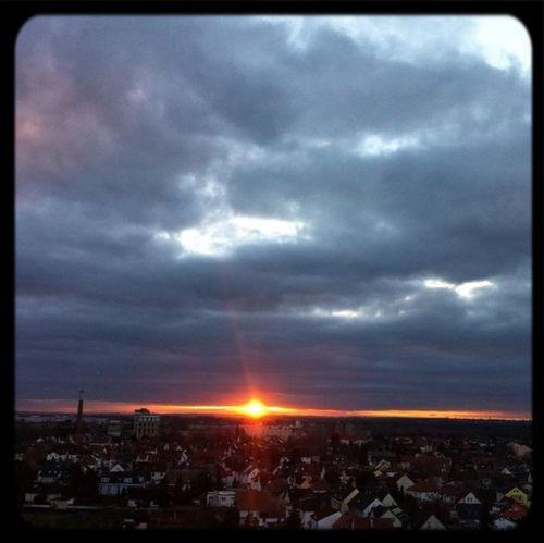 Sonnenuntergang Hessen Germany