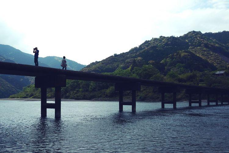 岩間の沈下橋 Cloud - Sky Sky Outdoors River Bridge The Great Outdoors - 2017 EyeEm Awards Japanese Traditional Beauty In Nature EyeEm Nature Lover Water Day Nature