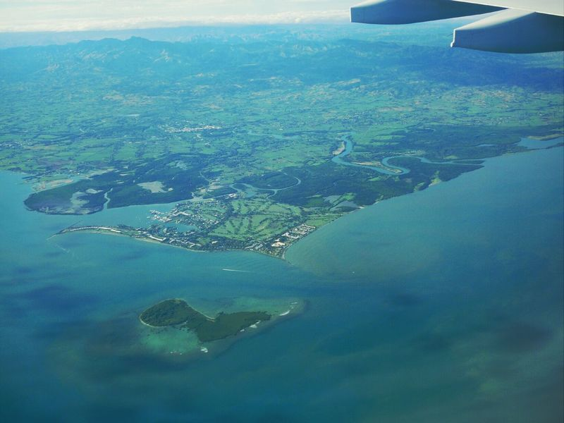 Fiji Photos Fiji Travel Sky Island Landscape Landscape_Collection From An Airplane Window Aerial Shot