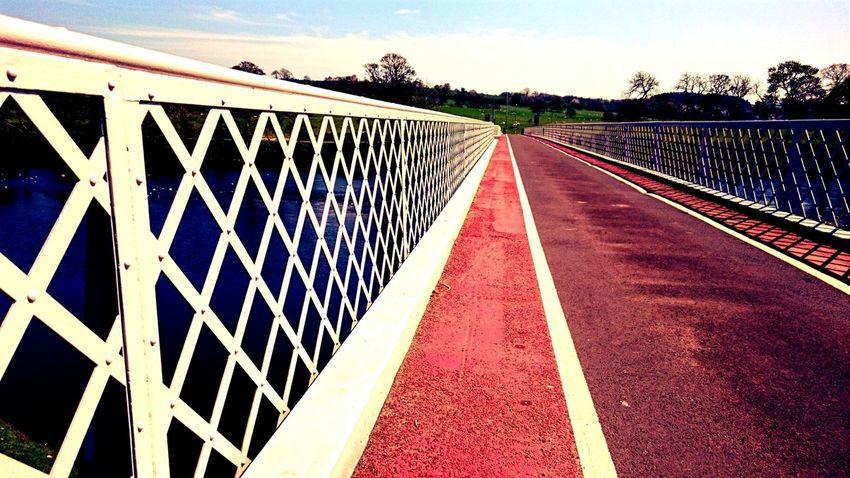 Bridge Man-made Structure River Bridge Walkway Metalwork Sunny Day Design
