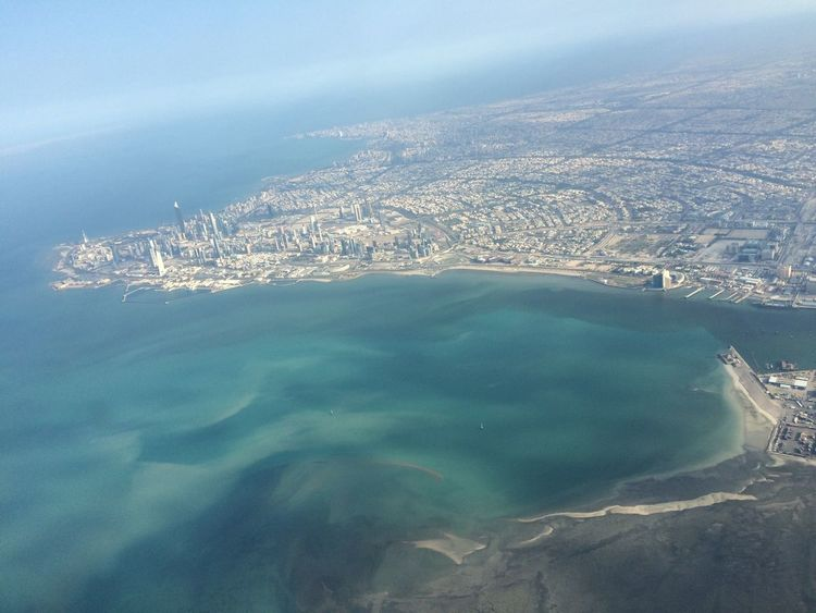 Love Is In The Air Aerial Shot From An Airplane Window Cockpitview Getting Inspired Mood Sea Coast Coastline Kuwait City
