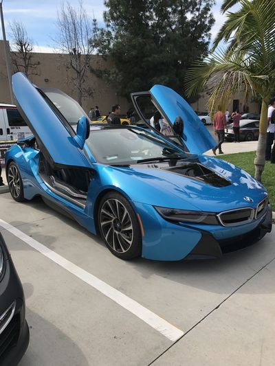 Car Blue Transportation Day Outdoors Bmwi8