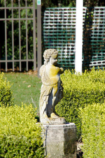 Stained green Representation Sculpture Art And Craft Statue Human Representation No People Plant Day Grass Nature Sunlight Creativity Green Color Boundary Barrier Fence Male Likeness Outdoors Garden Garden Photography Hedge Hedgerow
