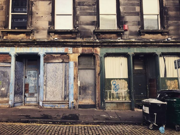 The abandoned places...⌛️ Poetry Old Edinburgh Abandoned Architecture Built Structure Building Exterior Door Damaged Run-down No People Outdoors Window Day