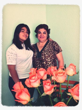 10.mayo.2014 Moms Day Rosas Family Happy Moments