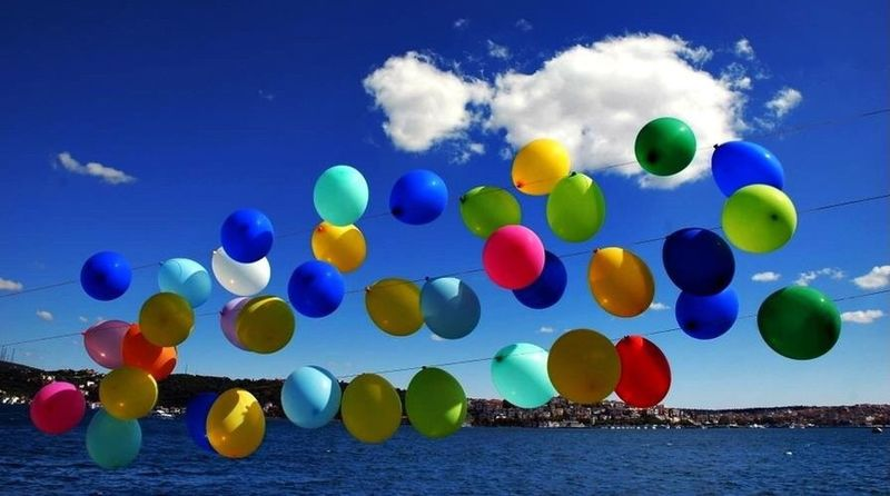 I love balloons! That's Me Enjoying Life Relaxing Colors