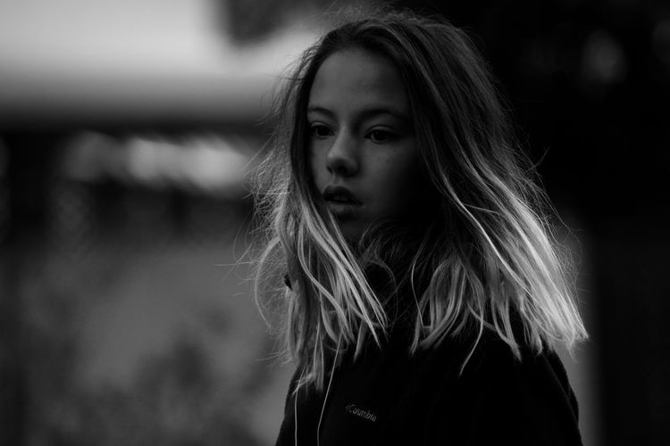 One Person Focus On Foreground Portrait Long Hair Headshot Hair Young Adult Hairstyle Standing Real People Casual Clothing Young Women Front View Women Beauty Beautiful Woman Day Lifestyles Teenager Contemplation