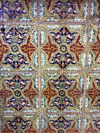 Ancient Old Origami Tiles Portuguese Wall Colors Beautiful Pattern
