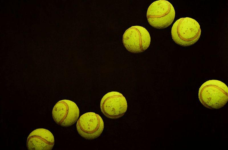 Tennis Ball Tennis Ball Yellow Racket Sport No People Strobo Shoot Stroboskop Strobelights