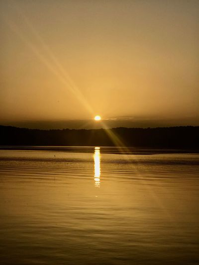 Lake Sunrise Sun Nature Beauty In Nature Water Scenics Outdoors Sky Tranquility Tranquil Scene Reflection No People