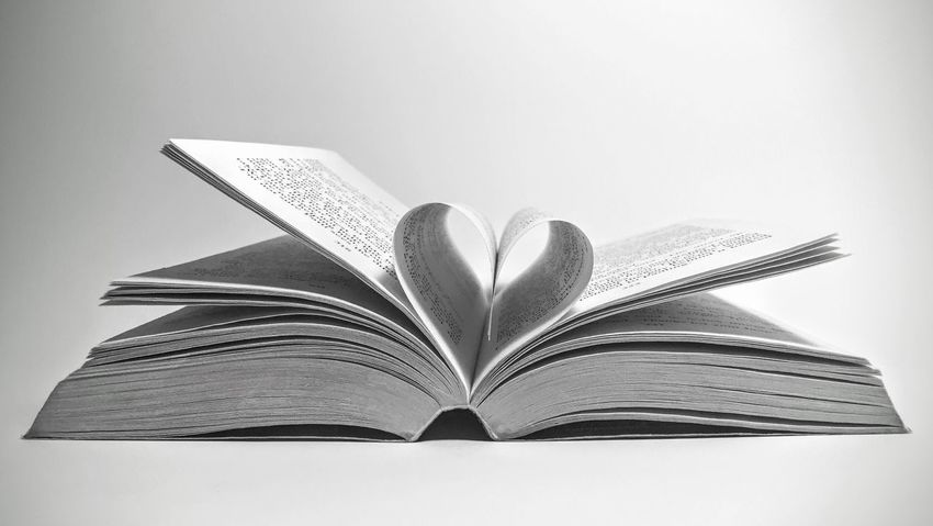 Love reading Book With Heart Heart Love Passion Read Reading Black And White Blackandwhite Relax Free Time Study Education Pages Of A Book Hobby Interesting Book