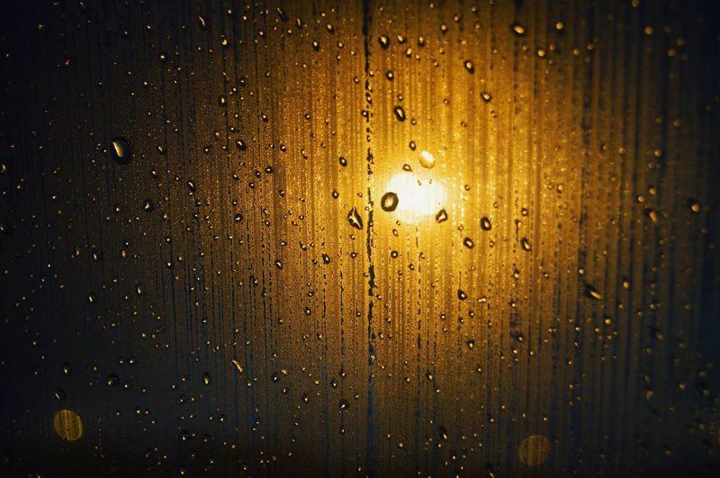 Nealnoahphotography Yellow Backgrounds Water RainDrop Close-up Freshness Light Illuminated Illumination Citylights Rainy Days Gold Crystals