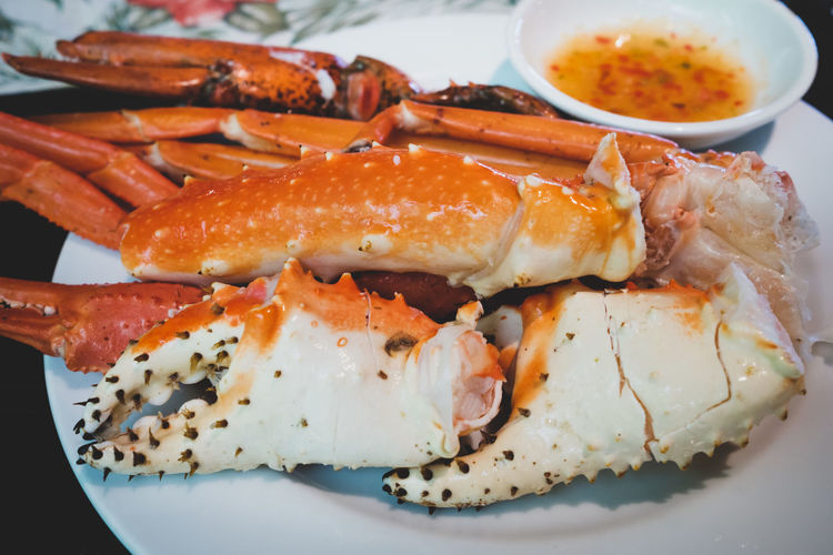 Crab - Seafood Crab Legs Crabs Food Food And Drink Freshness Healthy Eating Seafood Wellbeing