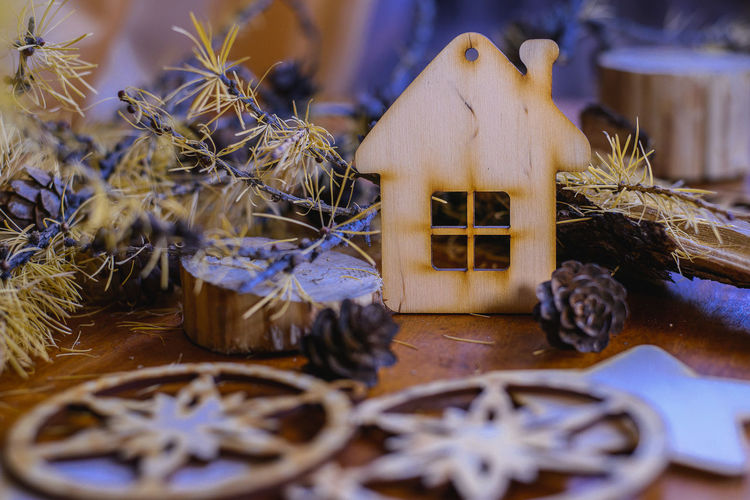 Christmas Decoration Winter , Wood , Snow Indoors  No People Day Backgrounds Close-up Holiday Decoration Celebration Home View December Homemade