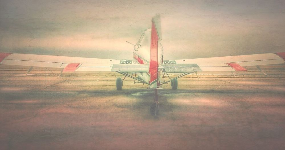 The engine is the heart of an aeroplane, but the pilot is its soul. ~Sir Walter Alexander Raleigh Rural America Rsa_rural Planes Trains Automobiles NEM Painterly Agplane Agpilot Airtractor Red And White Cropduster