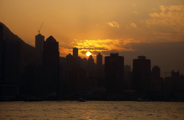 Skyline of Hong Kong at Sunset - Hong Kong Island, China, Asia Architecture Building Exterior Business Business Finance And Industry China Cityscape Downtown Downtown District Futuristic Hong Kong Hong Kong Island HongKong Modern Sea Silhouette Silhouette Skyline Skyscraper Sunset Sunset Silhouettes Sunset_collection TOWNSCAPE Urban Skyline Water Waterfront Welcome To Black