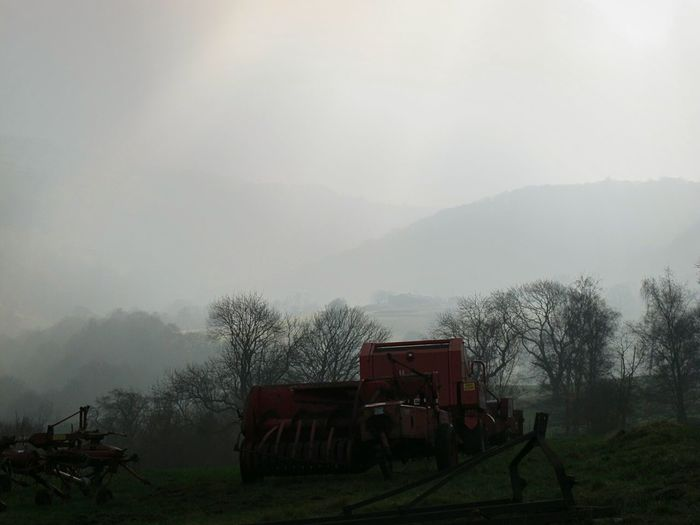 Agriculture Winter Beauty In Nature Tranquility Scenics Outdoors Silhouette Multi Colored Rural Scene Landscape Tractor Love Silence Of Nature Tranquil Scene Outdoors Eyeemphotography EyeEmbestshots Cold Temperature Winter Change Valleyside Beauty In Nature Fine Art Photograhy Agriculture Weather Fog No People Tranquil Scene