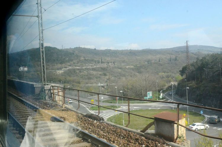Traveling Train Tracks Taking Photos From The Train Window Point And Shoot Railway From My Point Of View Italia Italy No Filters  On The Move Photography In Motion Traffic In The Street Highway From Above  Showcase April