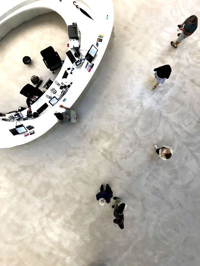 MAXXI High Angle View Real People Day Group Of People Leisure Activity Cold Temperature Winter Outdoors Snow Unrecognizable Person People Walking Land Sand Nature Flooring Lifestyles