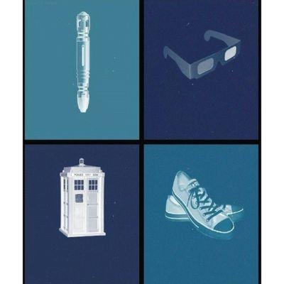 тардис ДокторКто сериал Tardis Doctorwho Film Policebox Dalek Rosetyler Docyor DavidTenna Converse 3D 3DGlass