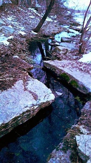 Lifeisbeautiful From My Point Of View Beautiful World Life In Colors Winter In Mn Colorful Enjoy The Little Things St Paul Mn Reflections In The Water St. Paul In Winter Nature Sen Waterstream Water Reflection Water_collection Creekwater Creekflow Creekinwinter Water Shapes Life