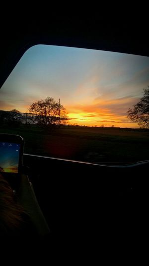 Sunset With A Sunset. The Landscape And Sunset . Picture Perfect Tranquility Sunset Silhouettes Silhouette Photography Taken Bye My Son Age 7 Picture In A Picture