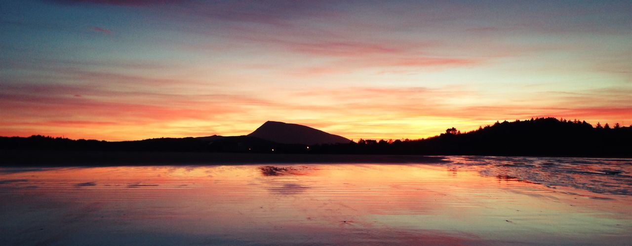 Donegal Ireland Muckish Beauty In Nature Day Lake Landscape Mountain Nature No People Outdoors Reflection Scenics Silhouette Sky Sunset Tranquil Scene Tranquility Travel Destinations Tree Water
