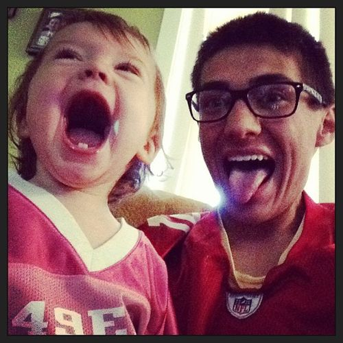 Game one when we beat the packers! Foreverfaithful  Niners Niece  StartingYoung