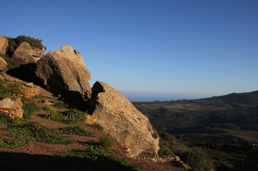 Pantelleria Blue Clear Sky Day Geology Landscape Mountain Nature No People October 2015 Outdoors Rock - Object Sky