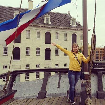 Морской музей Амстердама. Мы на настоящем корабле 18 века