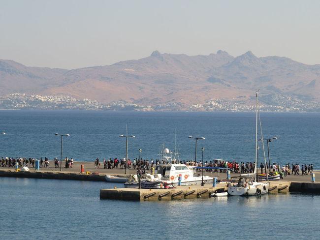 refugees, Port of Kos, Greece Harbour Harbour Insights Isle Of Kos Kos Kos Island Kos ısland Port Port Of Kos Refuge Refugee Refugees