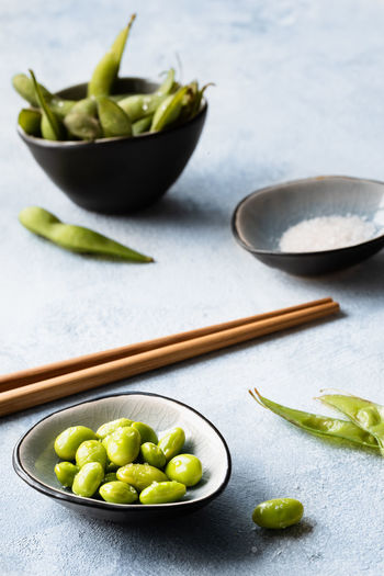 edamame   daylight food photography Food Food And Drink Healthy Eating Bowl Freshness No People Green Color Close-up Vegetable Edamame Beans Soya Beans Asian Food Food Photography Foodphotography Daylight Photography Nikonphotographer Seasalt Still Life