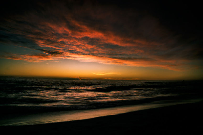 Tonight's episode Sea Sunset Beach Horizon Over Water Scenics Nature Sky Tranquility Outdoors Landscape Beauty In Nature Cloud - Sky Water Wave Tranquil Scene Taking Photos Enjoying Life Relaxing