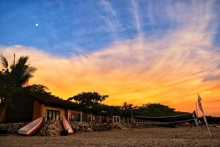 Tree Sea Beach Sunset Sand Summer Carousel Outdoor Play Equipment Sky Horizon Over Water The Great Outdoors - 2019 EyeEm Awards