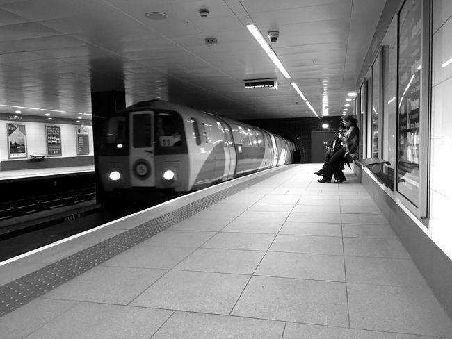 Glasgow  Subway Subway Train Blackandwhite